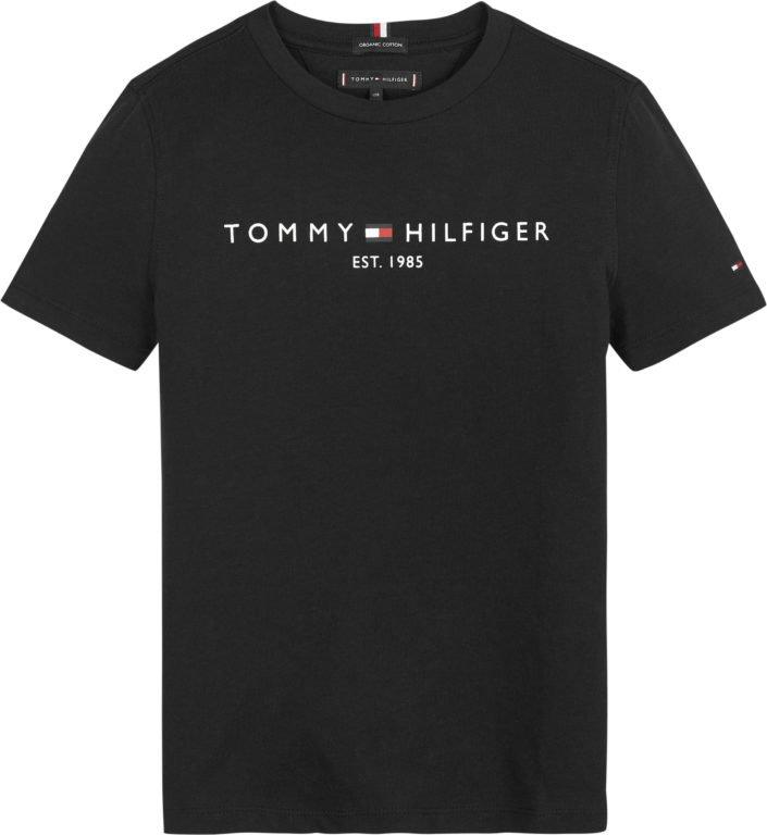 Tommy Hilfiger, lasten essential t-paita musta, koot 86cm - 122cm