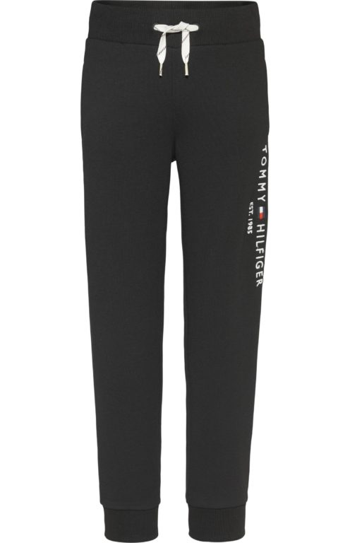 Nuorten Tommy Hilfiger, essential sweatpants collegehousut, musta
