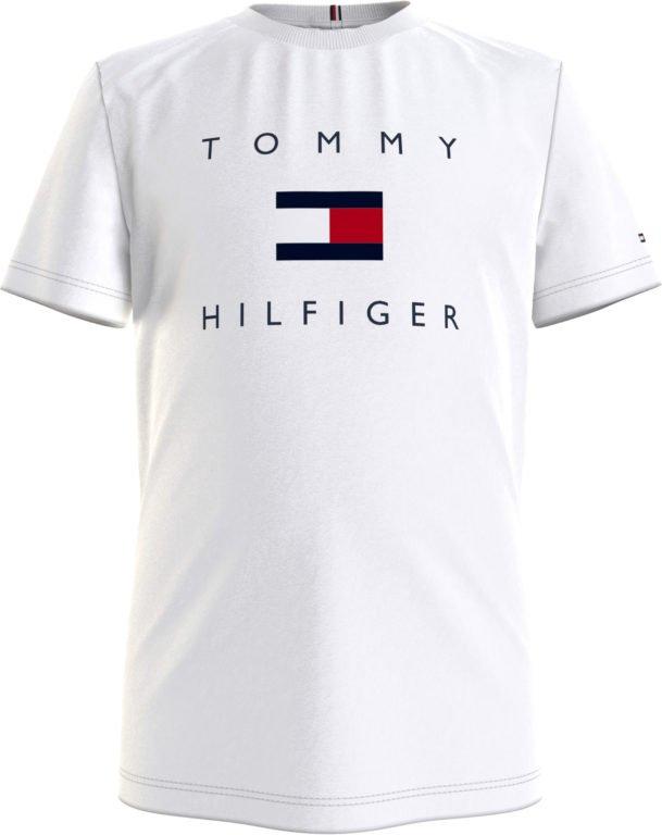 Tommy Hilfiger, Hilfiger logo t-paita, valkoinen