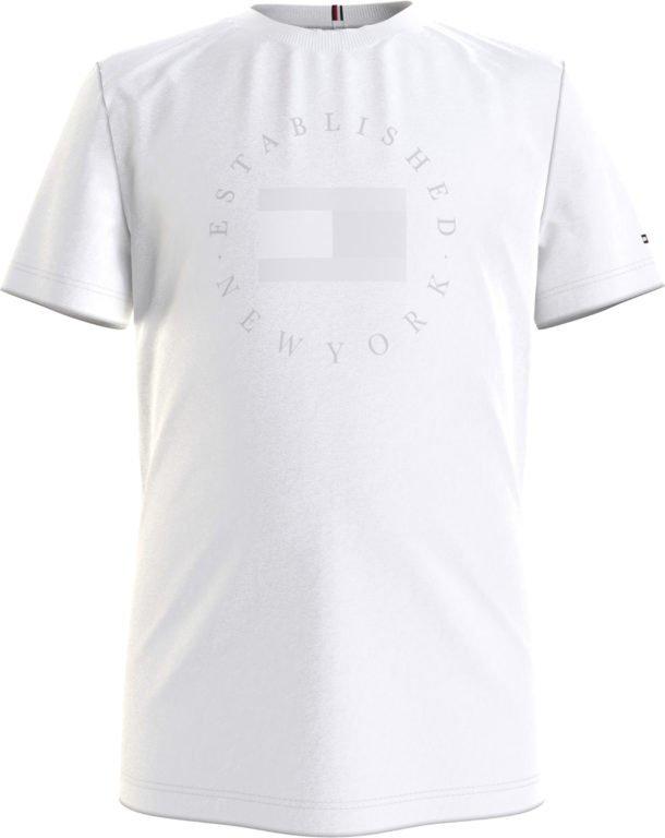 Tommy Hilfiger, Heritage logo t-paita valkoinen