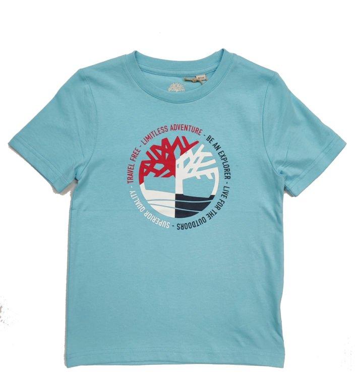 Timberland, t-paita, turkoosi, 108cm-174cm