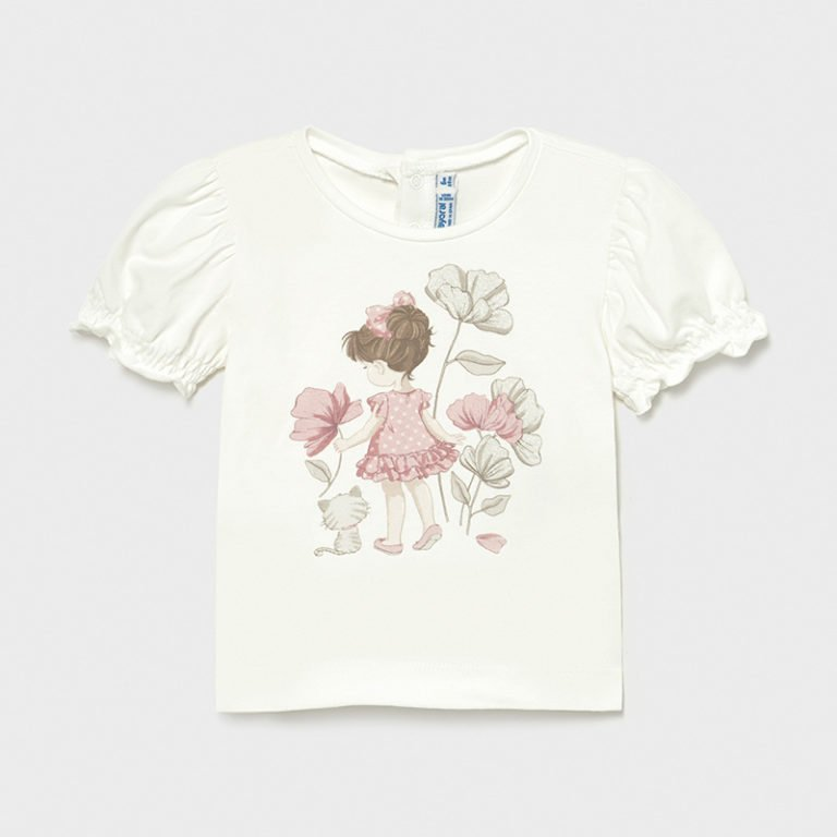 Mayoral, t-paita printillä, valkoinen