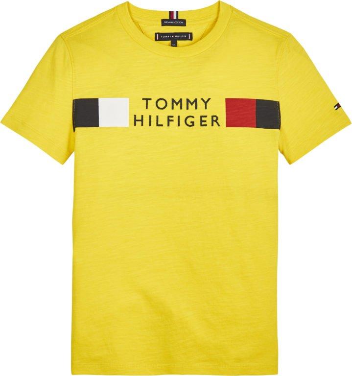 Tommy Hilfiger, global stripe t-paita keltainen