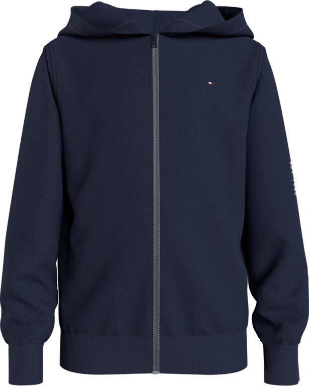 Tommy Hilfiger, Essential hoodie vetoketjulla, sininen. Koot 128-176