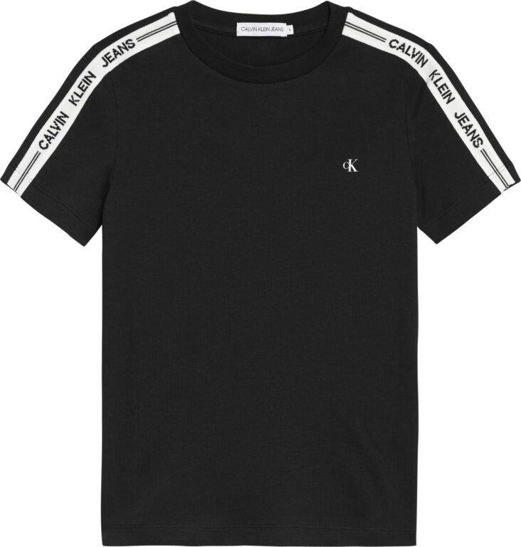 Calvin Klein, intarsia sleeve fitted t-paita