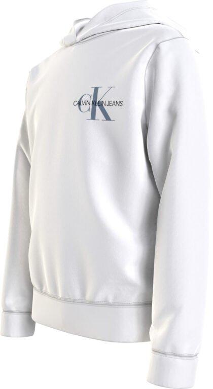 Calvin Klein, small monogram hoodie valkoinen