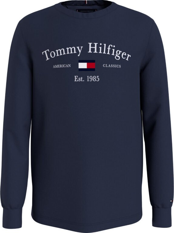 Tommy Hilfiger, artwork l/s paita, navy 128cm-176cm