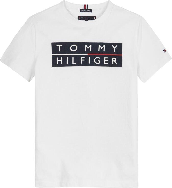 Tommy Hilfiger, Logo t-paita, valkoinen 104cm-122cm