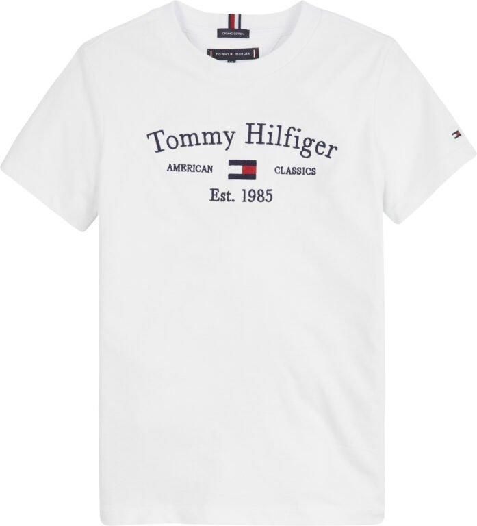 Tommy Hilfiger, artwork t-paita s/s, valkoinen