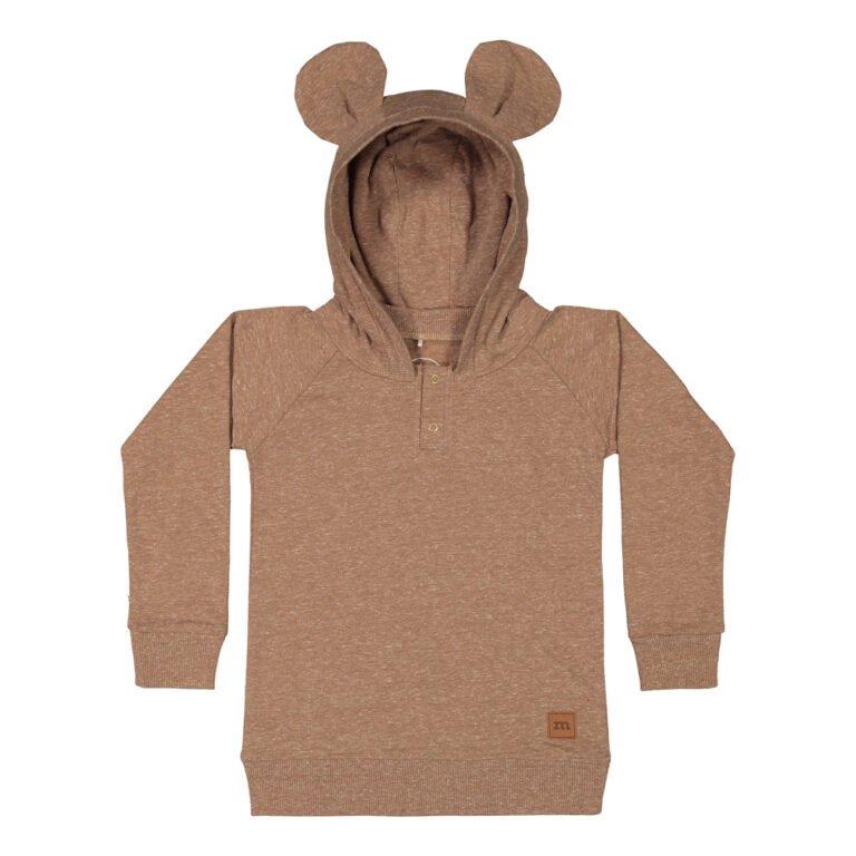 Metsola Bear hoodie almond
