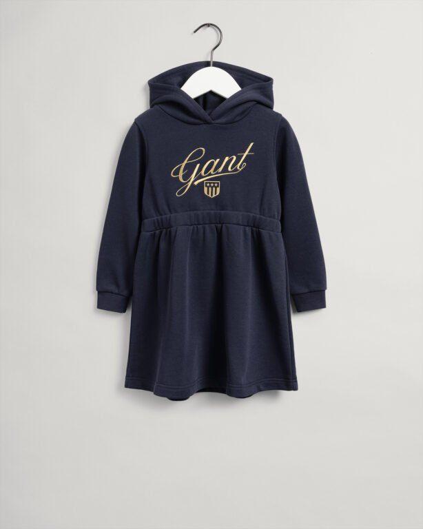 Gant, Script shield sweat dress, tummansininen