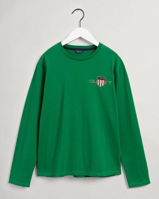 Gant, Med Archive Shield Ls T-shirt, Green