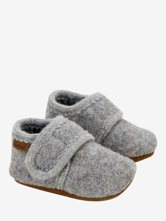 En Fant wool slipper, grey melange