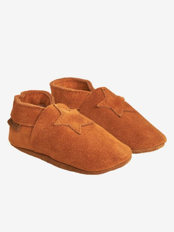 En Fant Elastic slipper suede, ruskea