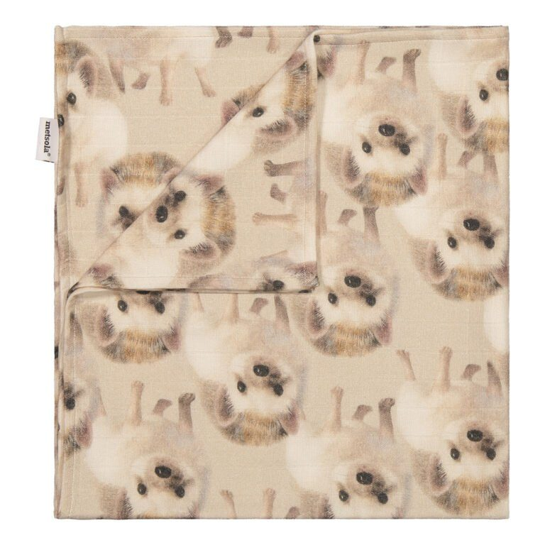 Metsola Hegehog muslin Cloth, Almond