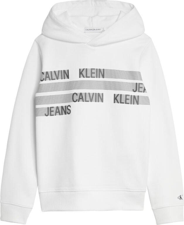 Calvin Klein, Dimensio logo hoodie, valkoinen