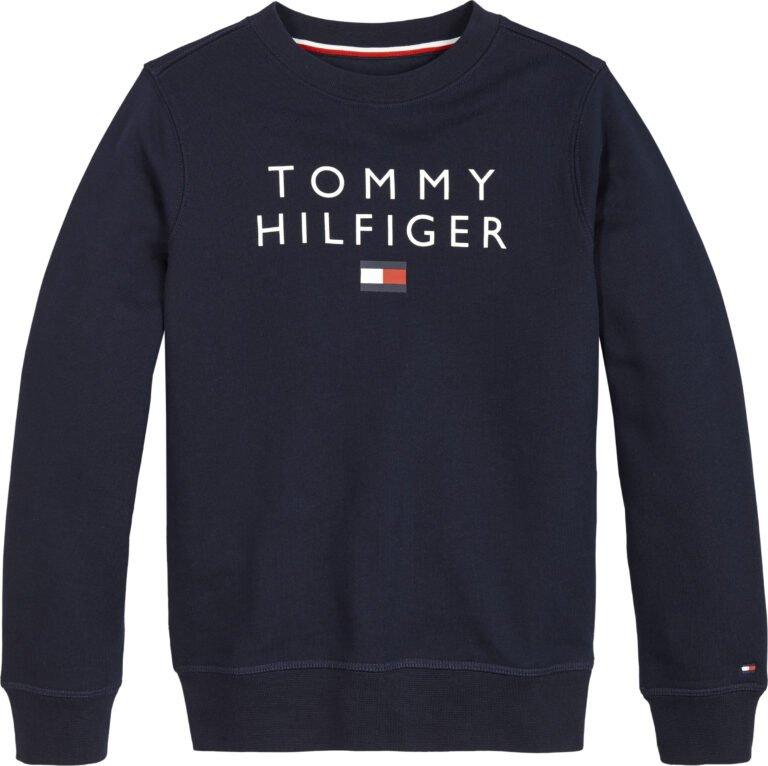 Tommy Hilfiger, Flag crewneck collegepusero, sininen