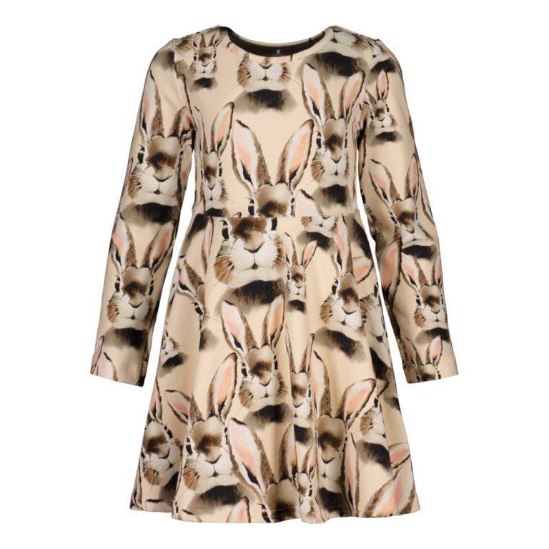 Metsola Bunny Cream Dress almond