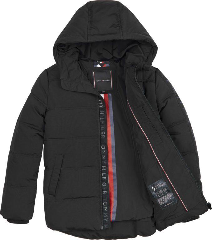 Tommy Hilfiger reflective print hooded jacket parkatalvitakki